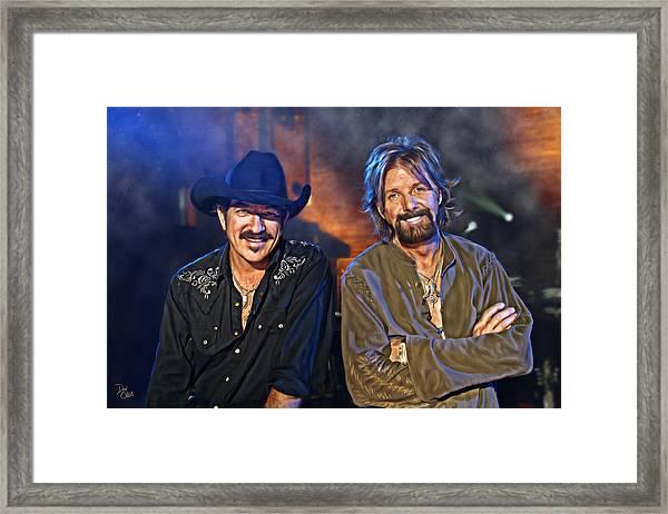 Brooks And Dunn Framed Print