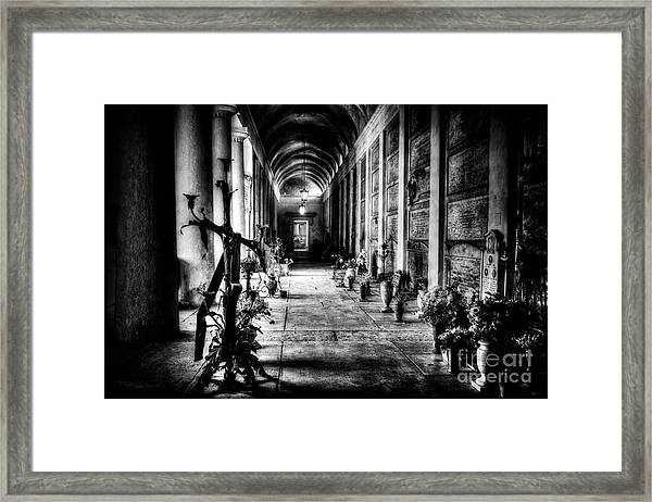 Cemetery Of Verona Framed Print