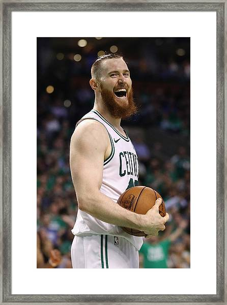 Cleveland Cavaliers V Boston Celtics - Game Five Framed Print by Maddie Meyer