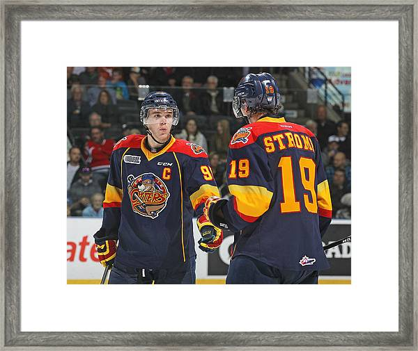 Erie Otters V London Knights Framed Print by Claus Andersen