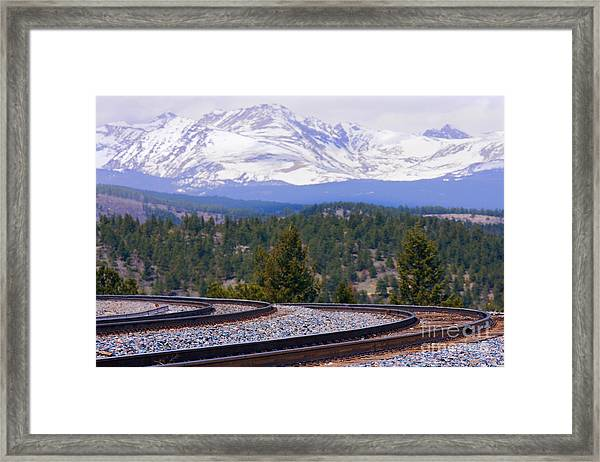 Freight On The Divide Framed Print
