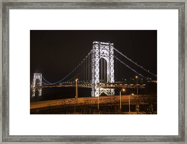 George Washington Bridge On President's Day Framed Print
