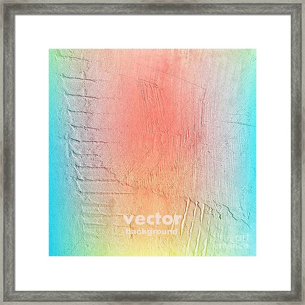 Grunge Retro Vintage Paper Texture Framed Print