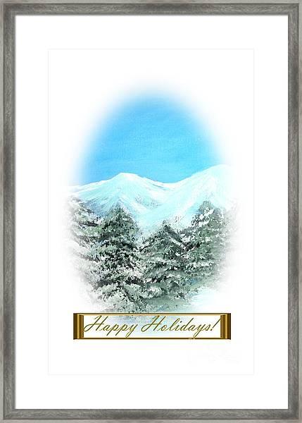 Happy Holidays. Best Christmas Gift Framed Print