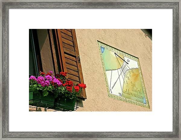 Italian Sundial Framed Print by Babak Tafreshi/science Photo Library