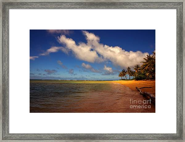 Kaua Beach Framed Print