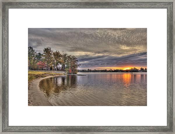 4 Lake Lenape W Sunrise6 Framed Print