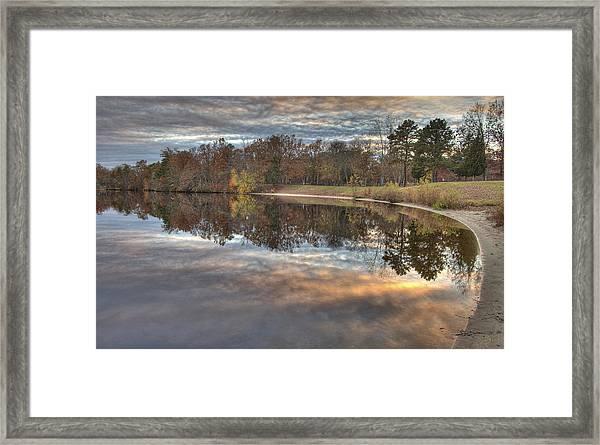 4 Llenape W Sunset13 Framed Print