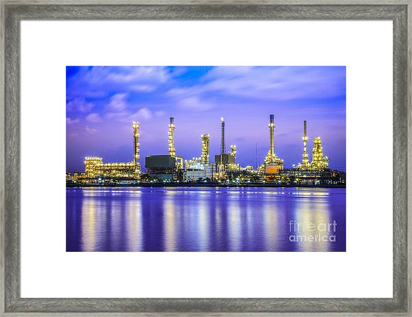 Oil Refinery Plant Framed Print
