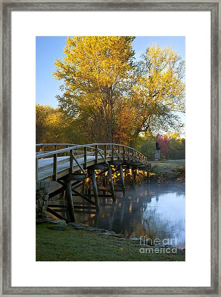 Framed Print featuring the photograph Old North Bridge Concord by Brian Jannsen