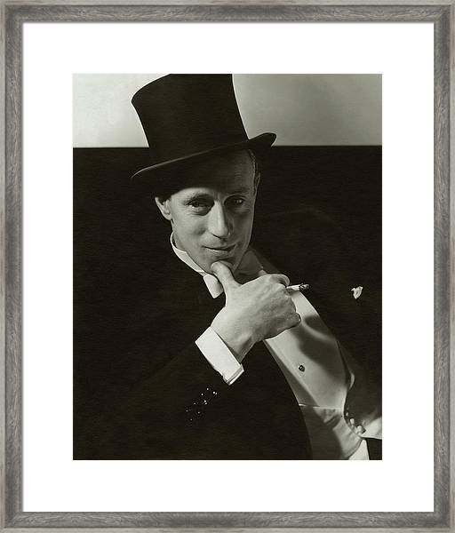 Portrait Of Leslie Howard Framed Print