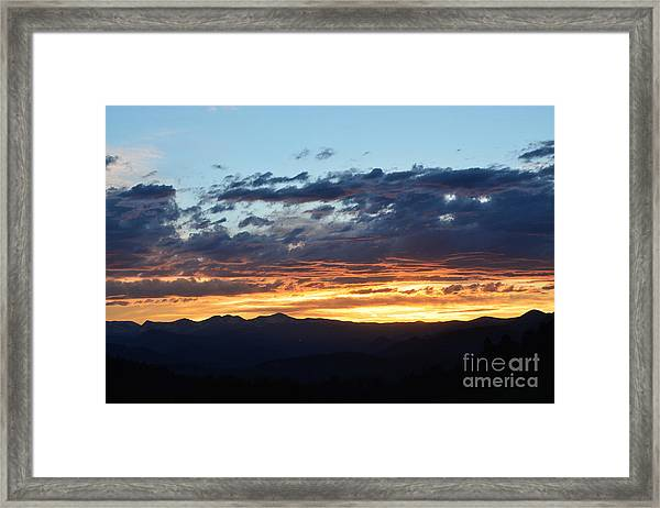 Framed Print featuring the photograph Rocky Mountain Sunset by Kate Avery