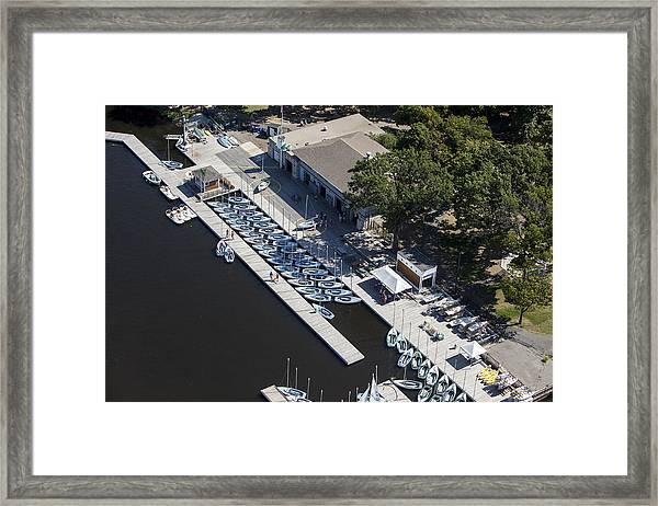 Sailing Boats In Charles River, Boston Framed Print by Dave Cleaveland