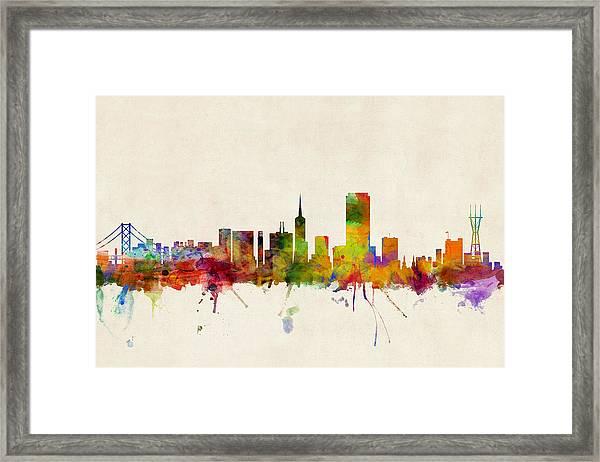 San Francisco City Skyline Framed Print