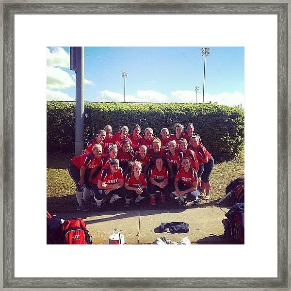 #shippensburg #softball #womenssports Framed Print