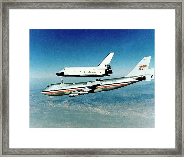 Space Shuttle Prototype Testing Framed Print