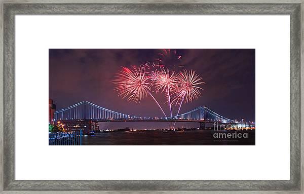 4 Th Of July Firework Framed Print