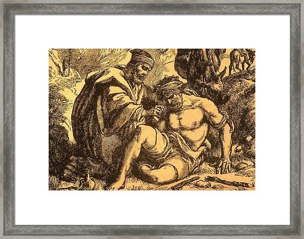 The Good Samaritan Framed Print