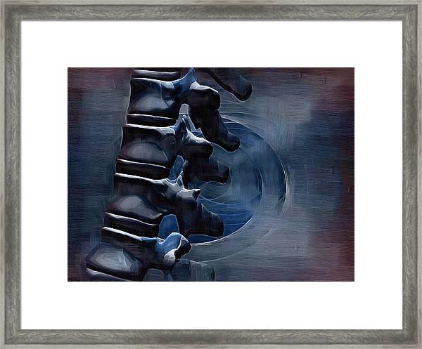 Thoracic Spine Framed Print