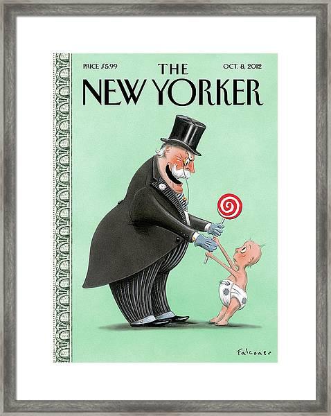New Yorker October 8th, 2012 Framed Print