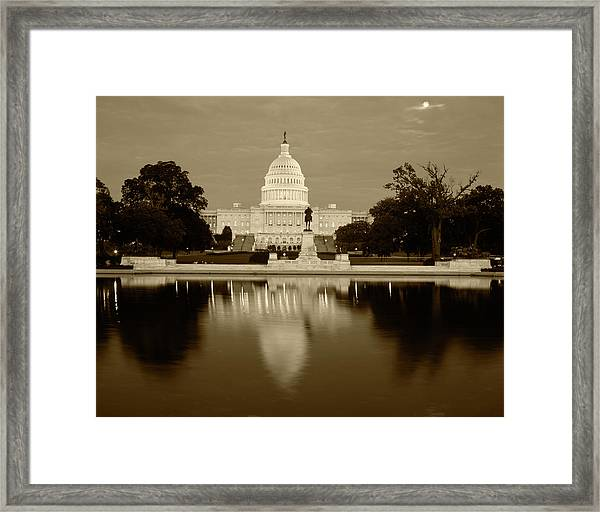 Usa, Washington Dc, Capitol Building Framed Print by Walter Bibikow
