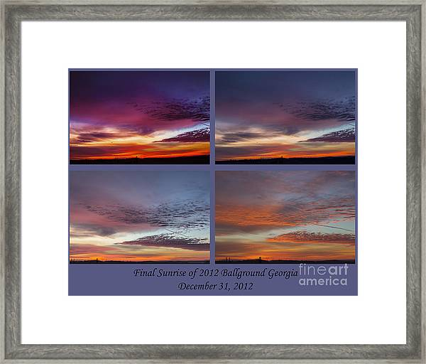 4 Views Of Sunrise 2 Framed Print