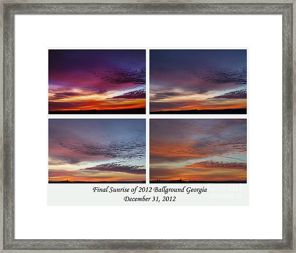 4 Views Of Sunrise Framed Print