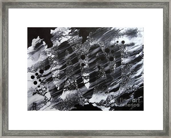 Curve Line Framed Print