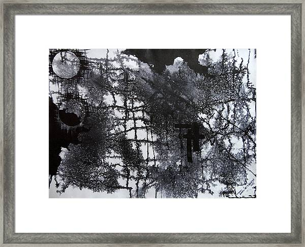 Two Circle Framed Print