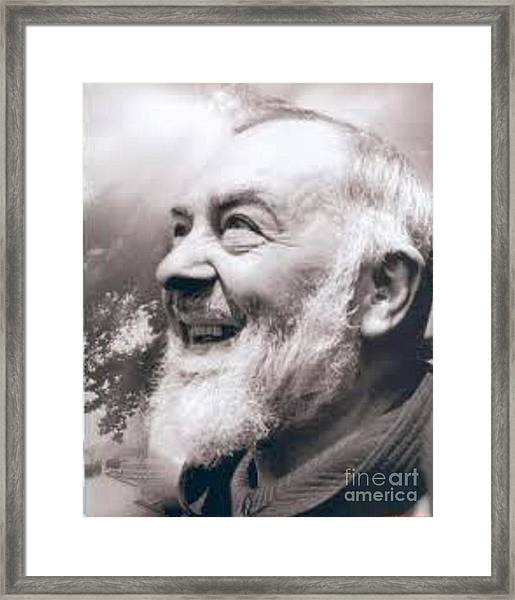Padre Pio Framed Print