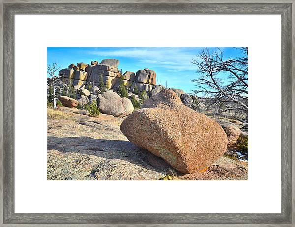 Vedauwoo Rocks Framed Print