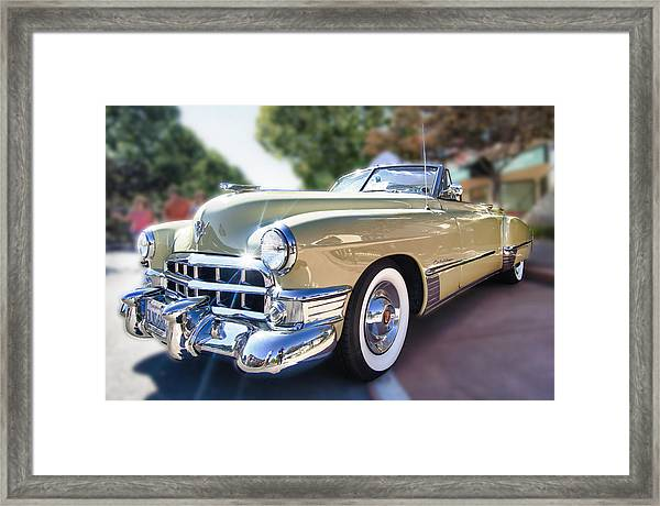 Framed Print featuring the photograph 49 Cadillac Convertible by Robert Rus