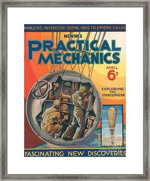 1930s Uk Practical Mechanics Magazine Framed Print by The Advertising Archives
