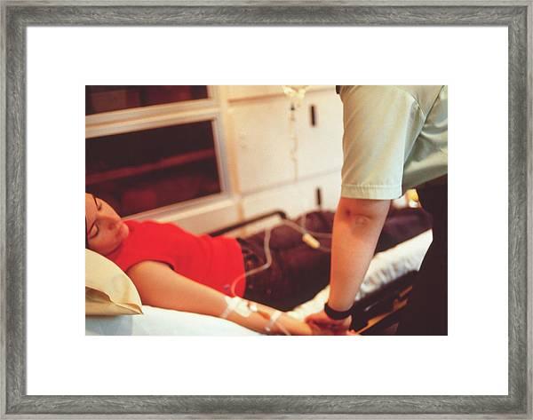 Ambulance Treatment Framed Print by Annabella Bluesky/science Photo Library