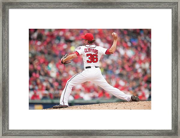 Atlanta Braves V. Washington Nationals Framed Print