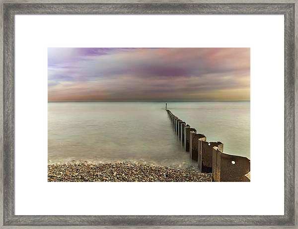 Breakwater Framed Print