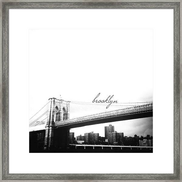 Brooklyn Framed Print