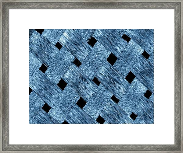 Carbon Fibre Fabric Framed Print by Alfred Pasieka