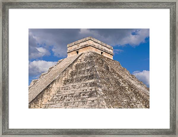 Chichen Itza Modern Seven Wonders Of The World In Mexico Framed Print