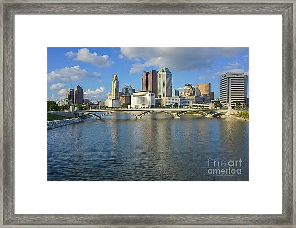 Fx1l-802 Columbus Ohio Skyline Photo Framed Print