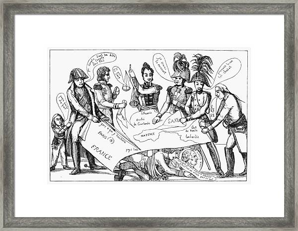 Congress Of Vienna, 1815 Framed Print
