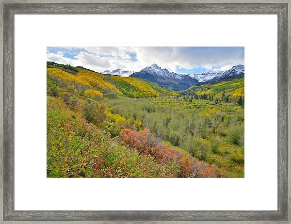 Dallas Creek Road Fall Colors Framed Print