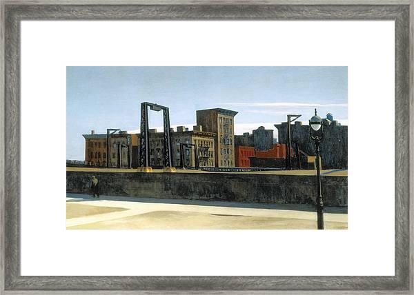 Manhattan Bridge Loop Framed Print