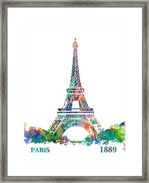 Eiffel Tower Paris France 1889 Framed Print