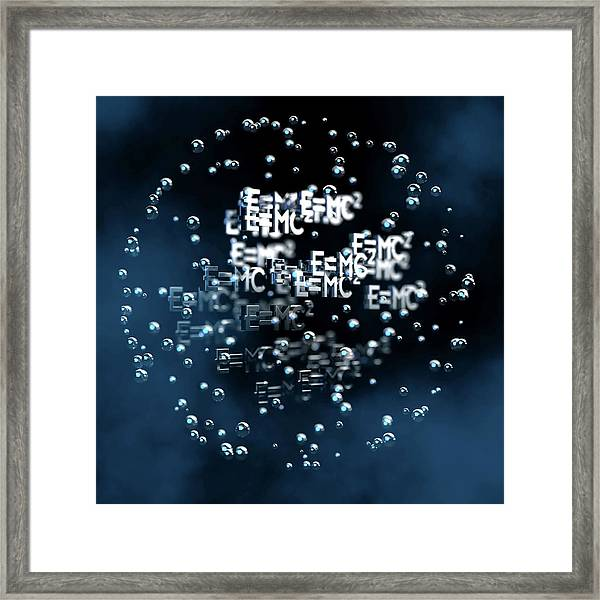 Einstein's Mass-energy Equation Framed Print by Ventris / Science Photo Library