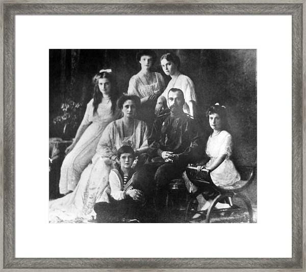 Family Of Tsar Nicholas II Of Russia Framed Print by Laski Diffusion