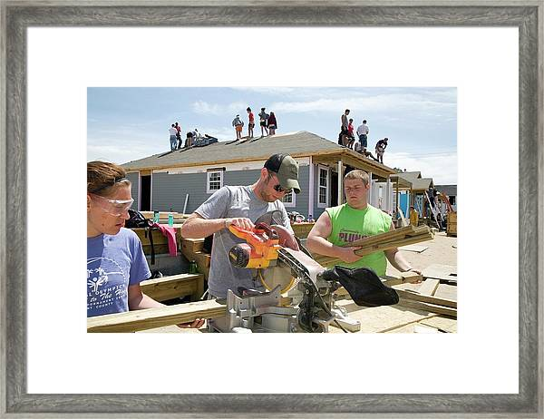 Habitat For Humanity House Building Framed Print