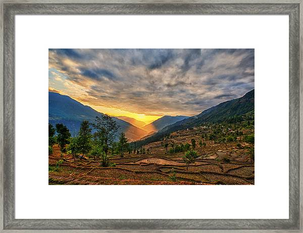Kalinchok Kathmandu Valley Nepal Framed Print