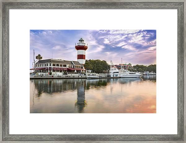 Lighthouse On Hilton Head Island Framed Print
