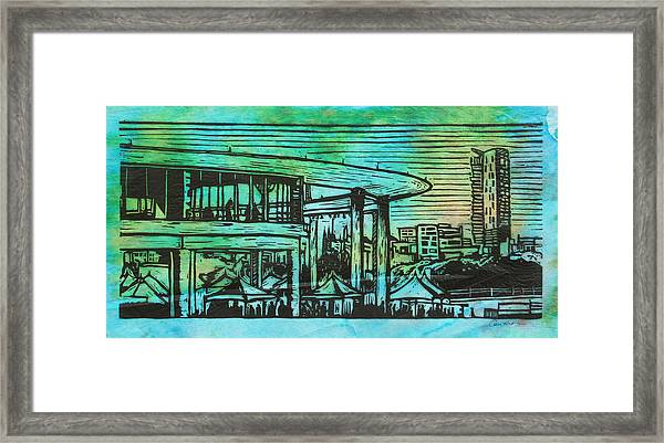 Long Center Framed Print